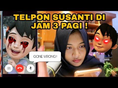 TELEPON SUSANTI DI JAM 3 PAGI ! MATA NYA MERAH !