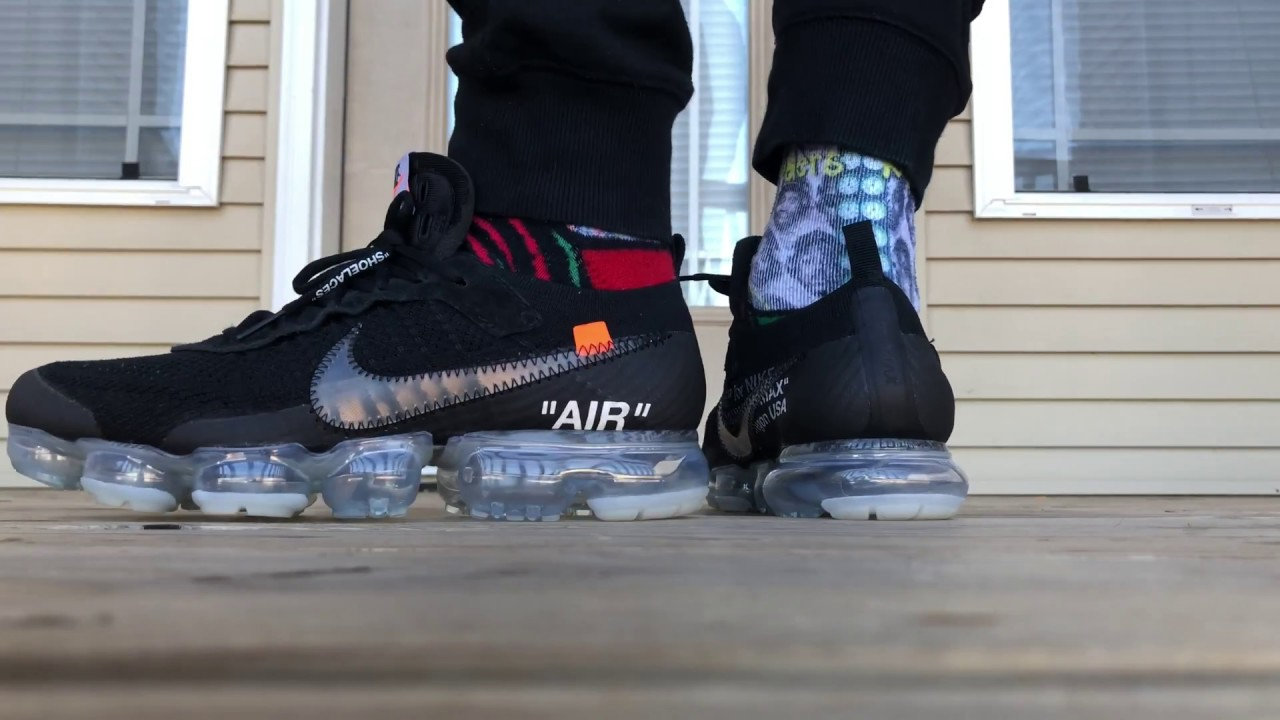 1198b3c7c7e58 2018 OFF WHITE X NIKE VAPORMAX ON FOOT LOOK!!!  4K  - YouTube
