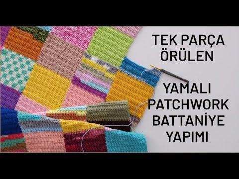 Patchwork Battaniye Kenar Yapımı&Patchwork Blanket Edge Making