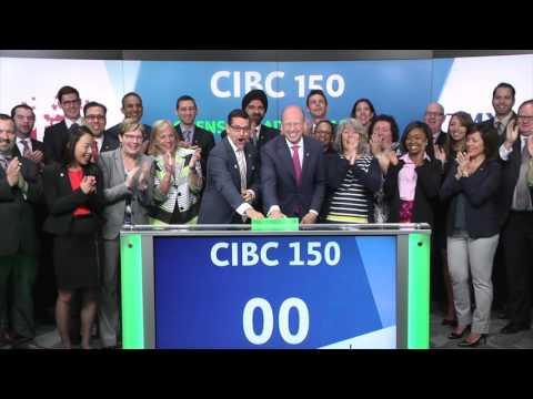 CIBC 150 opens Toronto Stock Exchange, May 15, 2017