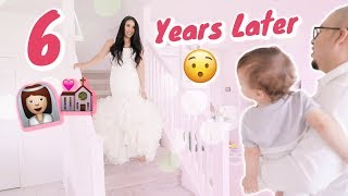 SURPRISING my Husband with my WEDDING DRESS! 6 Years Later