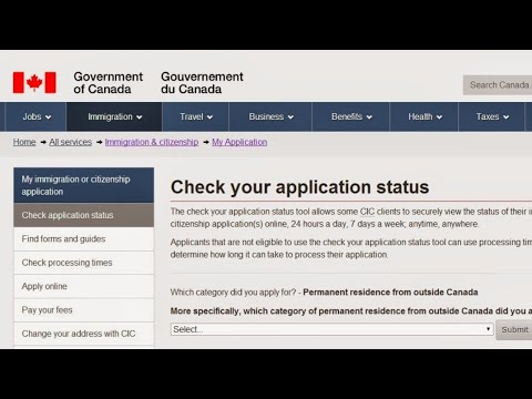 check status of passport application canada