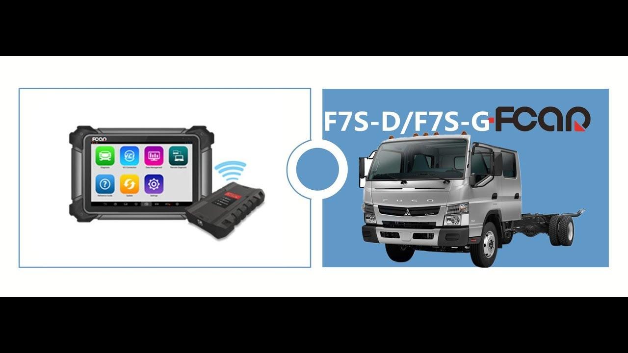Fuso Adblue DPF Regeneration by FCAR F7S 12 24V diagnostic tool