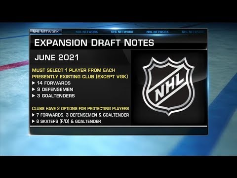 NHL Tonight:  Expansion draft rules for Seattle`s NHL franchise  Dec 4,  2018