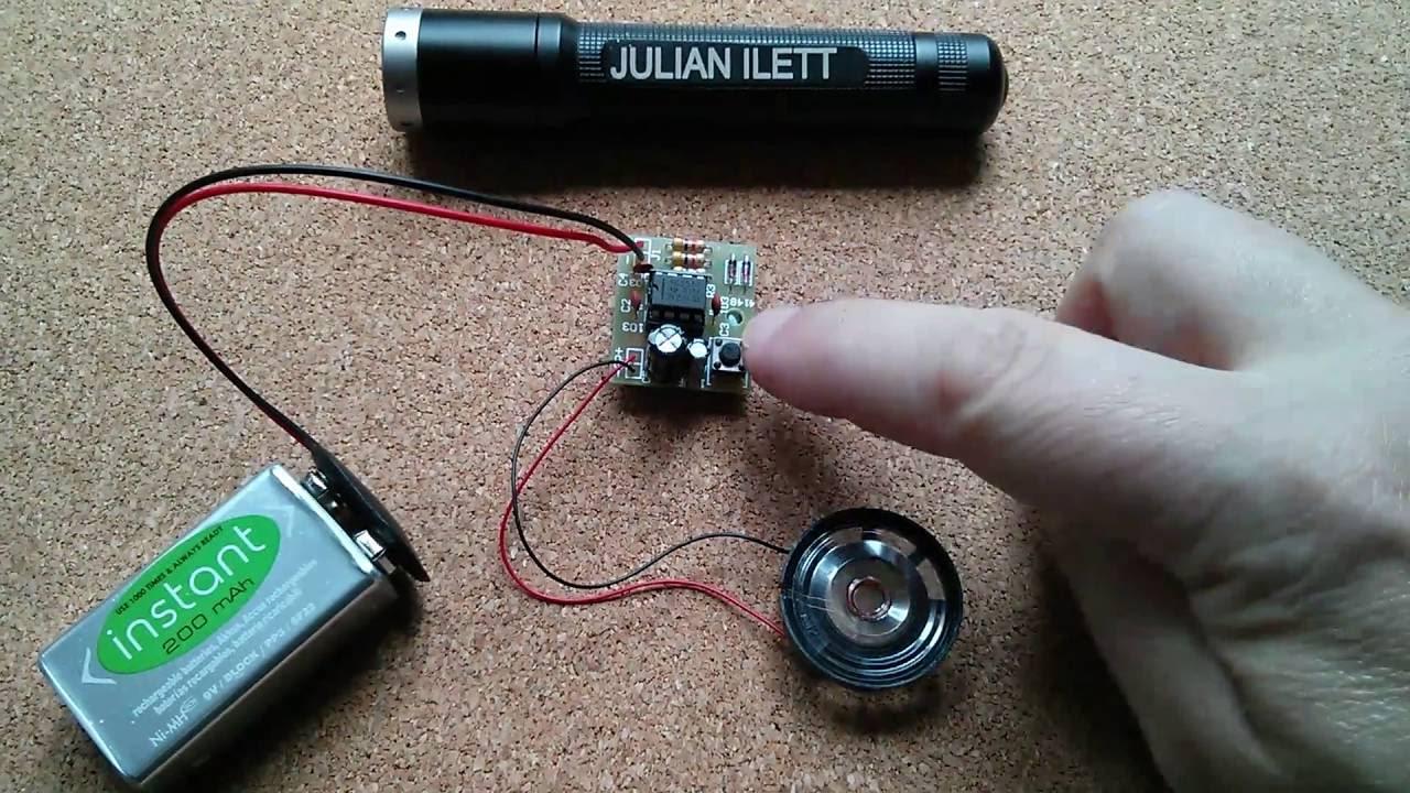 Reverse Engineered 50p Electronic 555 Doorbell Kit With Schematic New Door Buzzer Circuits Schematics Diagram