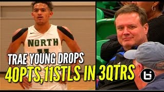 Trae Young Drops 40Pts,11 Stls In 3Qtrs In Front of Bill Self!