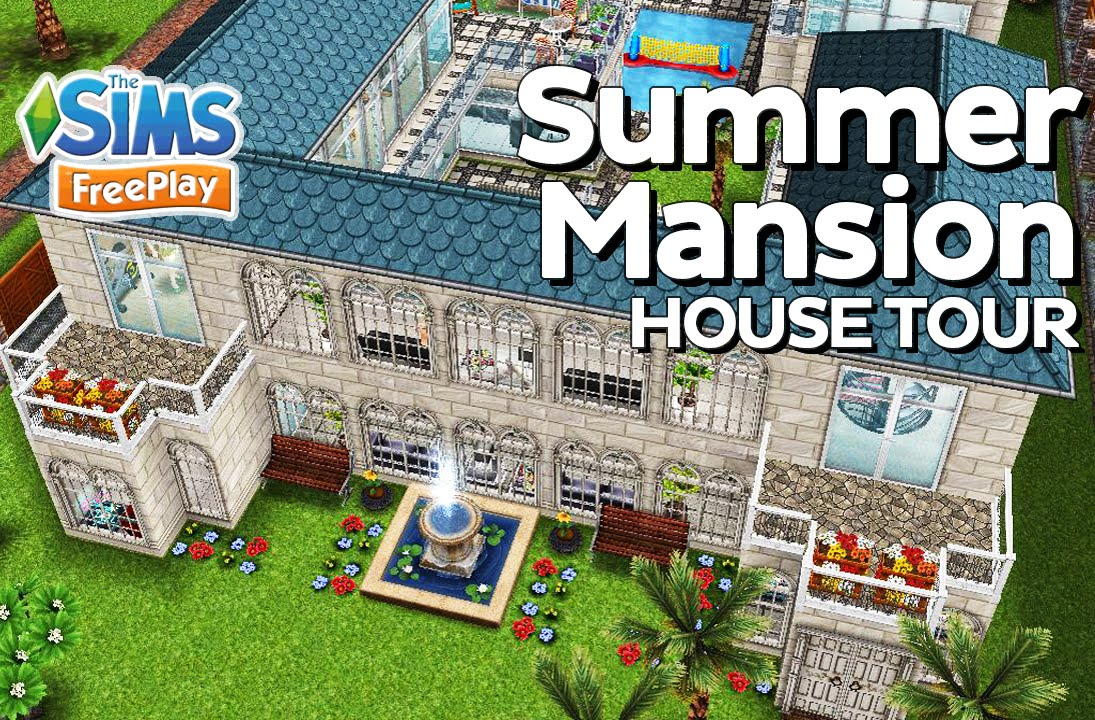 The Sims Freeplay - Summer mansion (Original design) - YouTube