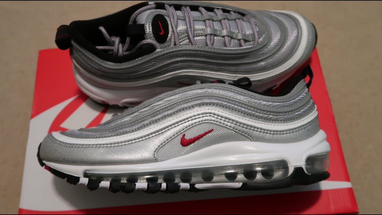separation shoes 1189b 9ec1c Air Max 97 OG QS Silver Bullet Sneaker Unboxing