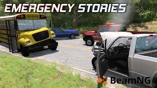 """Emergency Stories [5] (Short Stories) - BeamNG Drive - """"School Bus VS Pickup"""""""