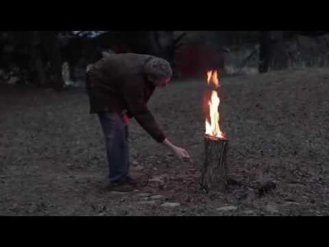 cách để làm được lửa trại cháy suốt đêm chỉ với một khúc củi