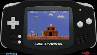 Super Mario Bros. (Classic NES Series) (GBA) Mario Gameplay Speedrun