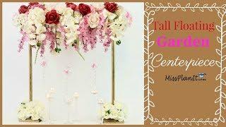 DIY Tall Floating Garden Wedding Centerpiece | Vintage Wedding | DIY Tutorial