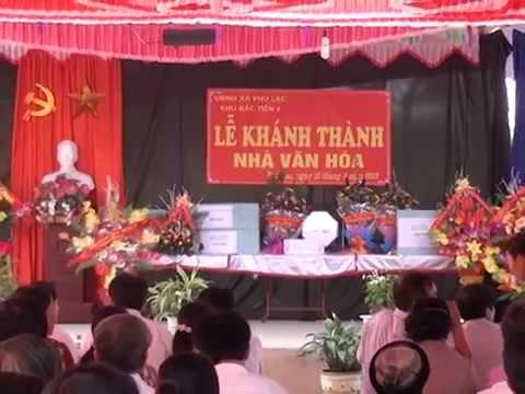 Lễ Khánh Thành Nhà Văn Hóa Khu 2 Phú Lạc Cẩm Khê Phú Thọ P1