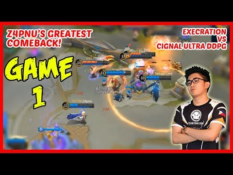 Comeback is Real! Z4pnu with Lancelot | Execration vs Cignal Ultra (DDPG) | Game1 - MPL PH