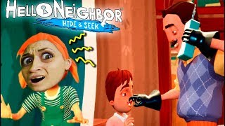 ДЕТИ И ЖЕНА ПРИВЕТ СОСЕДА ЖИВЫ Hello Neighbor Hide and Seek СТРАННЫЕ ПРЯТКИ