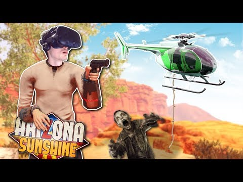 RESCUED FROM ZOMBIE HORDE?! - Arizona Sunshine Gameplay - VR Zombie Survival Game