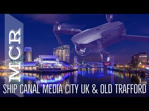 Manchester Ship Canal Media City & Old Trafford By Drone