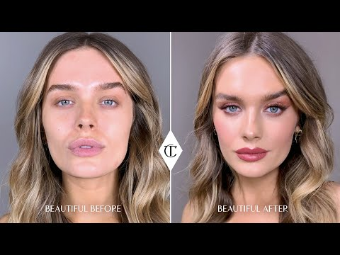 How To Perfect Red Eye Makeup With NEW! Walk of Shame Palette ft.Chloe Lloyd   Charlotte Tilbury