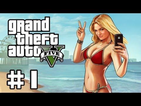 GTA 5 Gameplay #1 - Let's Play GTA V German