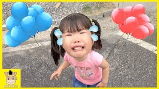 Learn colors for kids play balloons finger family nursery rhymes fun | MariAndKids Toys