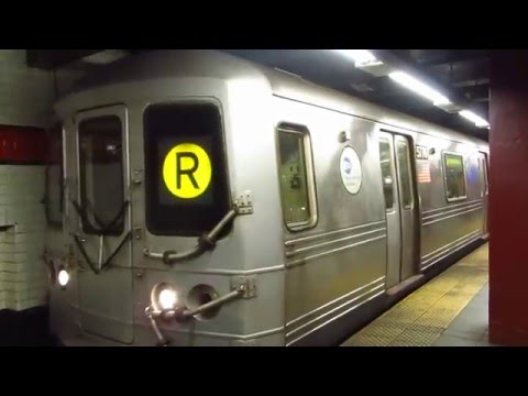NYC Subway: Brooklyn bound R46 R Train(via 6 Av) leaving 42 St-Bryant Pk