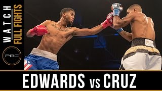 Edwards vs Cruz FULL FIGHT: September 3, 2016 - PBC on NBCSN