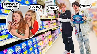 Asking My Boyfriend To Buy A FEMININE PRODUCT That Doesn't Exist...**PRANK**🍒| Piper Rockelle