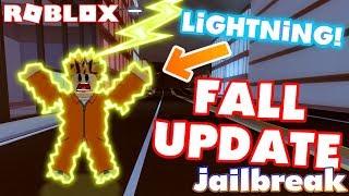 STRUCK BY LIGHTNING!? - Roblox Jailbreak Fall Update!