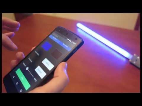 Led scepter diy light painting tool youtube for Diy light art