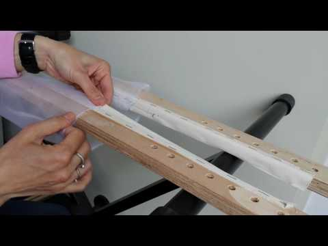 Tambour Beading Part 4 Mounting The Embroidery Frame EN