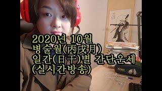2020년 10월 병술월(丙戌月) 일간(日干)별 간단운…