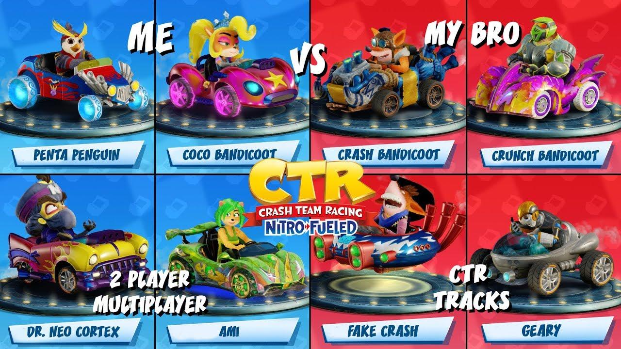 Download Crash Team Racing: Nitro-Fueled Multiplayer   All CTR Tracks   2 Player Split Screen