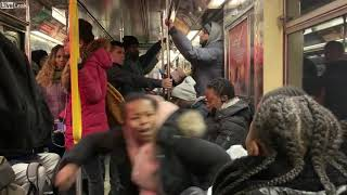 🔥 Crazy Lady Subway FreakOut Over Seat ft. homeless jimmy