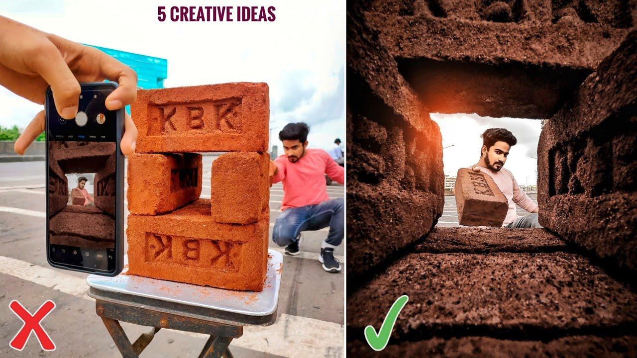 5 Creative Ideas For Mobile Photography By Using Bricks And Many More Step By Step In Hindi