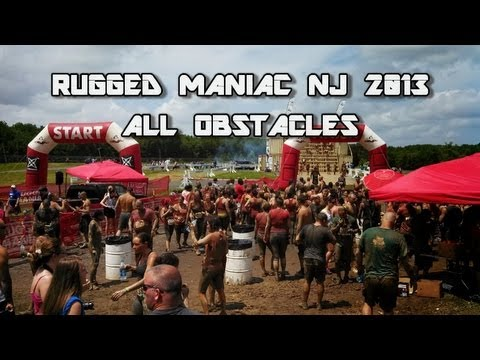 Rugged Maniac NJ 2013   ALL OBSTACLES