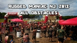 Rugged Maniac NJ 2013 - ALL OBSTACLES