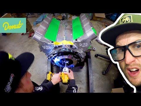 Drift Corvette - Final Install of the Engine    Field Prep Ep16