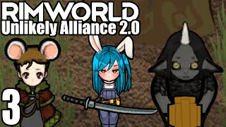 Let's Play Rimworld: Unlikely Alliance 2.0 #3 - Dreams of Anime Donuts