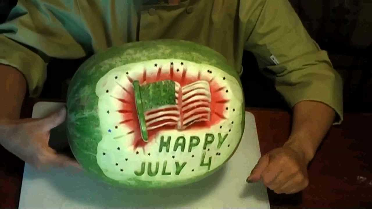 Fruit carving fourth of july watermelon youtube