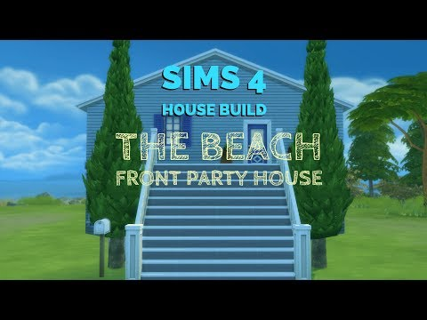Sims 4 House Build - Beach Front Party House - Speed Build