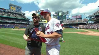 PHI@NYM: Mets honor Veteran of the Game