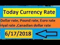 Today currency rate ||currency rate today ||OPEN MARKET CURRENCY RATES IN PAKISTAN 6/17/2018