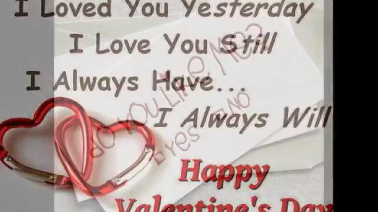 Valentines Day Love Quotes Happy Valentine Day Romantic Wishes Images Love Quotes  Youtube