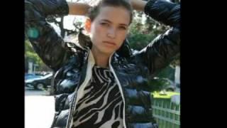 Cute girls in shiny down puffer jackets