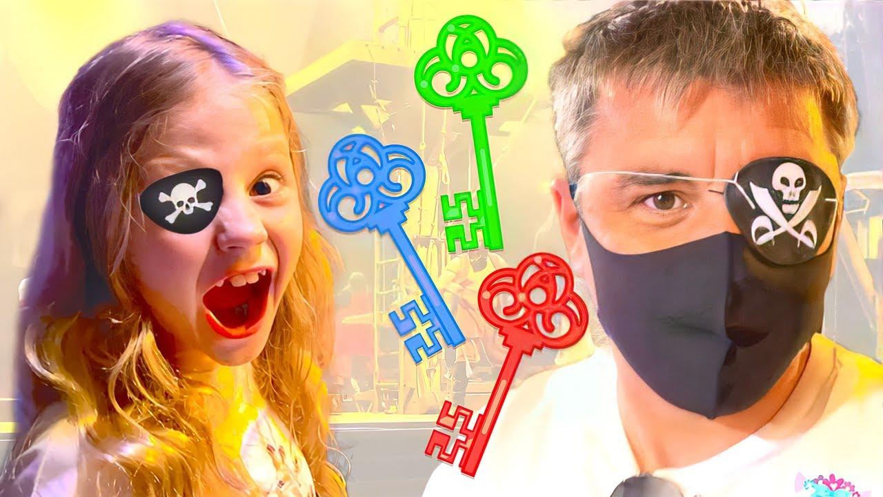 Nastya y papá, ¡el misterioso desafío de las cinco llaves! Desafío de cerradura y llave