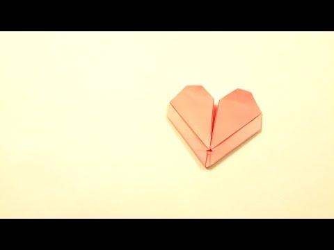 พับหัวใจวันวาเลนไทน์ ตอน พับหัวใจยอดนิยม จากกระดาษ A4 (PART 1/8)