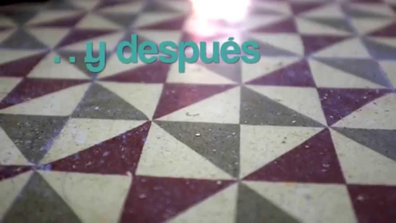 Quitar Unas Manchas Y Rayadas De Un Pavimento Hidráulico Youtube
