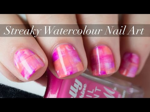Video Streaky Watercolour Nail Art Tutorial The Nailasaurus Uk