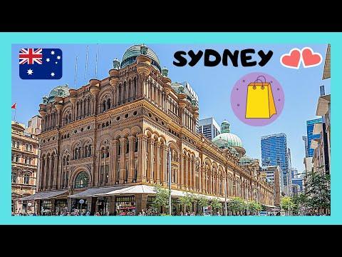 SYDNEY, The Beautiful QUEEN VICTORIA (QVB) SHOPPING CENTRE  (AUSTRALIA)