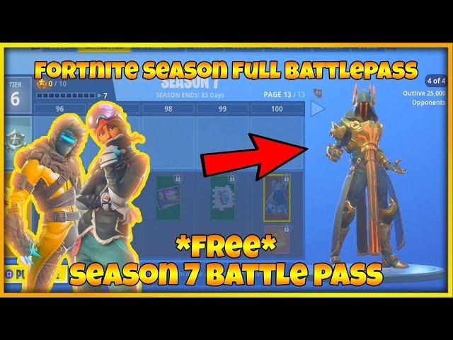 Fortnite Season 7 Full Battle Pass Season 7 Skins Fortnite Season